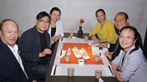 2016年海外華文媒體與台灣媒體舉行座談,座談會一角。(倪爾森/新唐人)