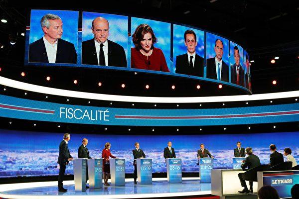 法国7总统候选人首登电视辩论 5百万人观看