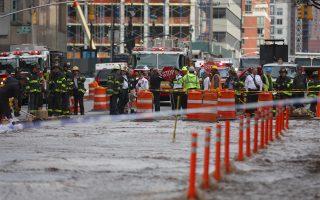 曼哈頓主水管破裂 中餐館生意減半