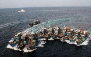 中国渔船非法捕捞 全球护渔 韩:必要时炮击