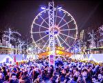 图为比利时布鲁塞尔圣诞市场全景。(布鲁塞尔旅游局提供)