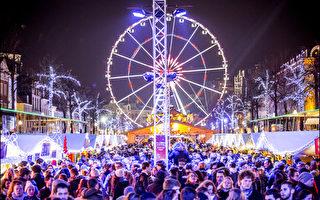 圖為比利時布魯塞爾聖誕市場全景。(布魯塞爾旅遊局提供)