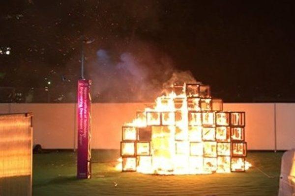 東京明治神宮外苑起火 一男童死亡二傷