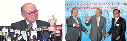 退休法官胡国兴(左)10月27日抢闸宣布参选后,财政司司长曾俊华(右)表达参选取态也趋高调,被指打乱梁振英连任部署。(潘在殊/大纪元)