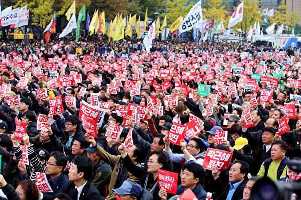 道歉難撫民心 二十萬韓民眾示威籲總統下台