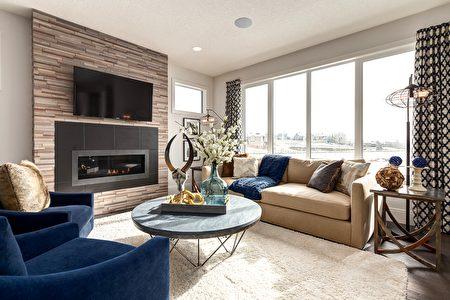 格调高雅的客厅(Lupi Luxury Homes 提供)。