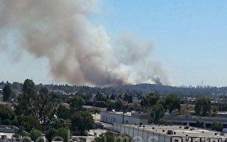 洛杉矶Tujunga爆发灌木野火