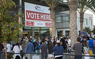 大选日前提前投票 圣地亚哥选民热情高