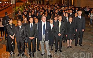 反人大釋法 香港法律界2千人黑衣靜默遊行