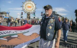 舊金山第97屆老兵節遊行在漁人碼頭舉行