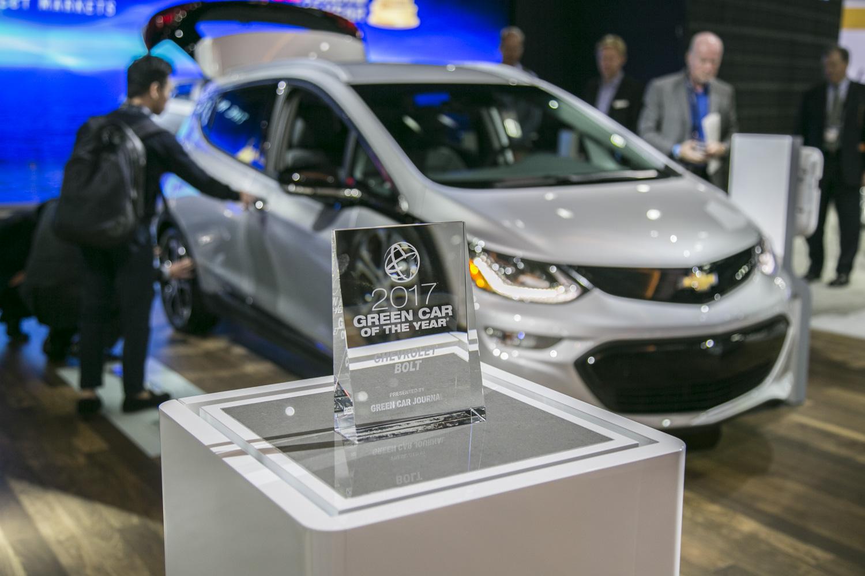 雪佛蘭Bolt EV當選為年度環保車
