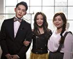 """黄美珍(中)新歌《原来我也可以幸福》邀来韩国新人""""金海星""""(左)担纲MV中的男主角。(上行提供)"""