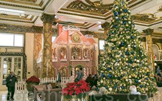 加州最大姜饼屋旧金山展出 圣诞气氛浓