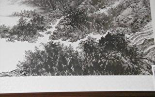 為畫堅持50年 簡淑華師生山水畫基隆展出