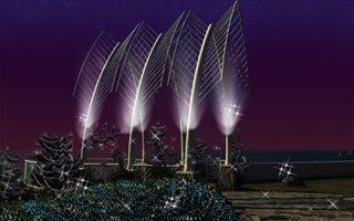 全台最大3D光雕秀 閃耀新北歡樂耶誕城