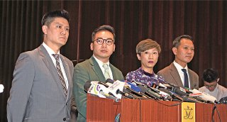 公民党强调人大释法决定时间、动机全错。(蔡雯文/大纪元)