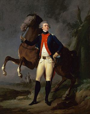 《拉法耶特將軍畫像》(Portrait de La Fayette),Louis-Léopold Boilly繪於1788年,凡爾賽宮收藏。(維基公共領域)