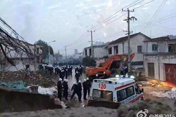 江蘇數百城管突襲村莊暴力強拆 多名村民重傷