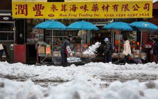 冬天雪季來臨,老人家要注意安全。 (Andrew Burton/Getty Images)