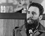 古巴独裁者斐代尔.卡斯特罗(Fidel Castro)昨天深夜去世。图为1973年的卡斯特罗。(STIG NILSSON/AFP/Getty Images)