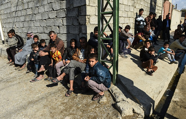 聯合國警告說,IS正徵召9歲及9歲以上男童上戰場。(BULENT KILIC/AFP/Getty Images)