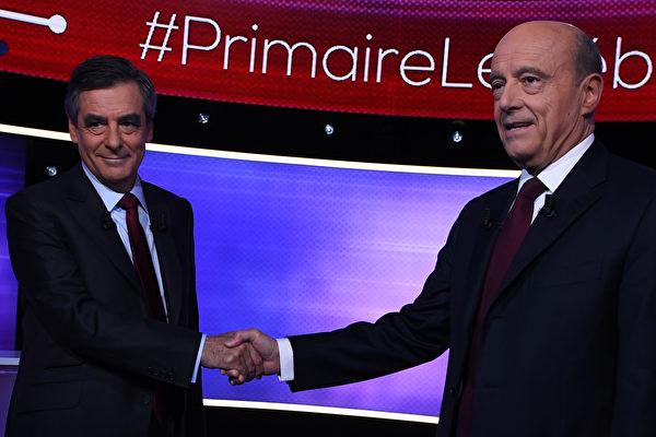 法國右翼總統候選人最後電視辯論花絮