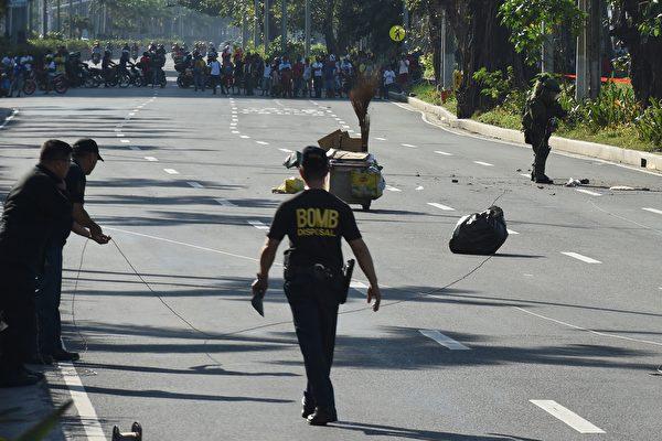 美駐菲使館附近驚現炸彈 警方現場引爆