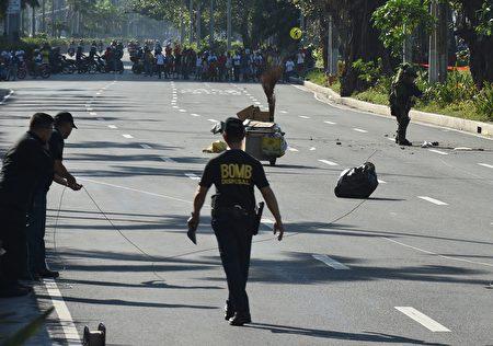 美驻菲使馆附近惊现炸弹 警方现场引爆
