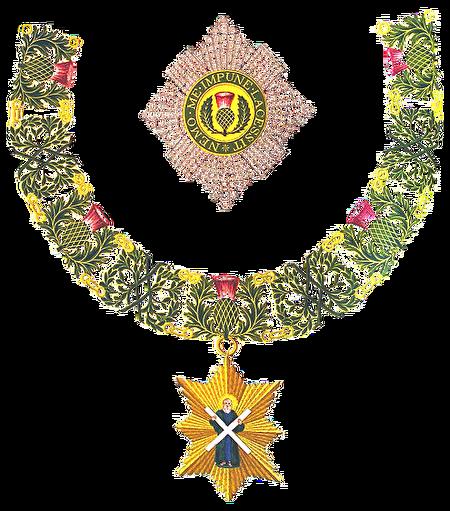 薊花騎士勳章。(公有領域)