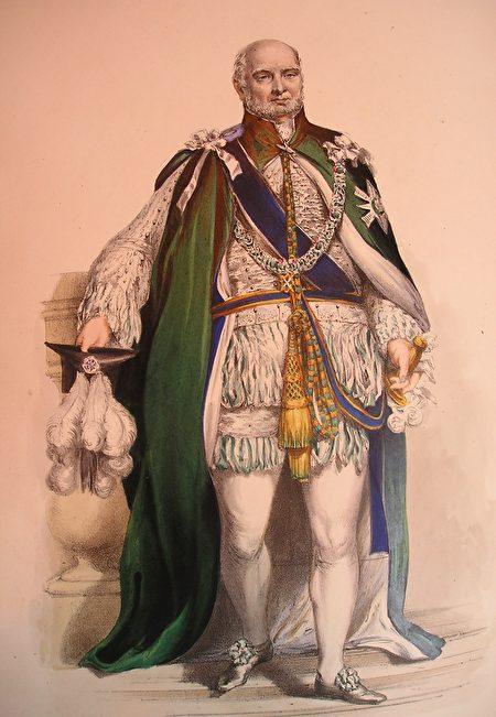 薊花勳章受勳者的正式服裝。(公有領域)
