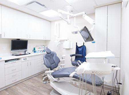 纽约曼哈顿Upper East Smile牙科诊所的内部设施。(张学慧/大纪元)