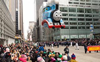 梅西游行花车与气球 您认识几个?