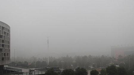 17日白天,咸寧市部分地區出現能見度小於500米,局部小於200米的濃霧。 (網絡圖片)