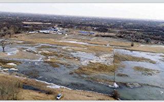 内蒙鄂尔多斯煤矿污水决堤 数千亩草场遭污染