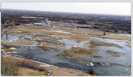 內蒙鄂爾多斯煤礦污水決堤 數千畝草場遭污染