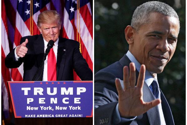 奧巴馬邀特朗普入白宮 討論政權平穩過渡