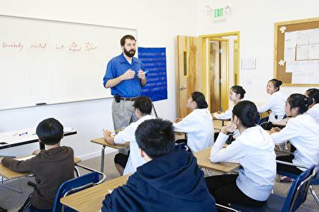 飛天學生的上課一景。(舊金山私立藝術學校:加州飛天藝術學院提供)
