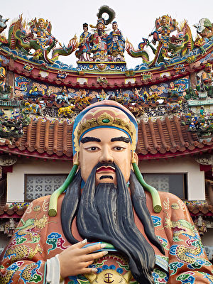 刘备塑像(王嘉益/大纪元)