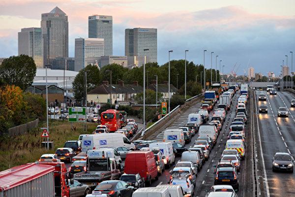塞車令英國企業年損失逾七億鎊 倫敦最糟