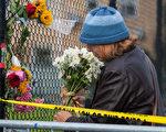 12月5日下午,奧克蘭市所在的阿拉米達地檢署宣布,將對12月3日凌晨的奧克蘭倉庫大火廢墟變發起犯罪調查,令火災現場變成犯罪現場。圖為現場。(馬有志/大紀元)