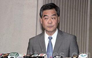 梁振英昨日称事前不知曾俊华拒绝回答四名被司法复核的议员的提问,但被质疑其诚信。(蔡雯文/大纪元)