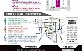 台北跨年晚會  信義區周邊3階段交管