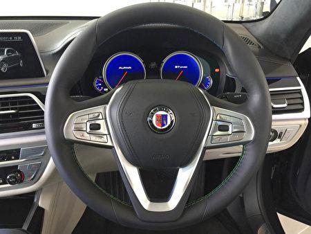 BMW ALPINA B7 Biturbo細節圖。(安柏超/大紀元)