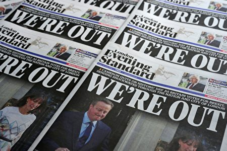 英國公投決定脫歐後,首相卡梅倫(David Cameron)立即宣布辭職。(DANIEL SORABJI/AFP/Getty Images)