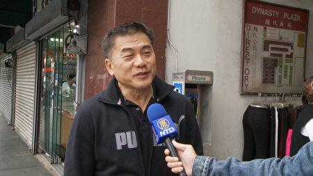 唐人街居民李先生。(杨阳/大纪元)