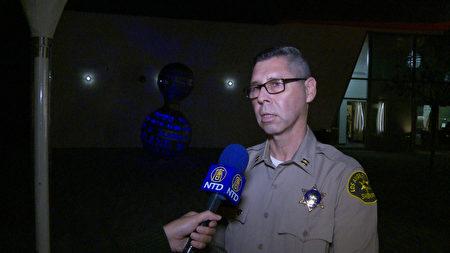 负责罗兰岗治安的洛县警局警监 Alfred Reyes。(杨阳/大纪元)