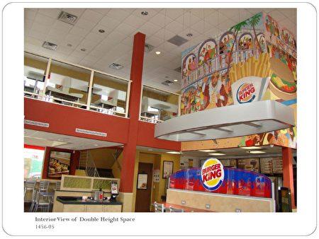 """郝傳東建築師事務所""""成立後的第一個設計項目——漢堡王快餐店的外觀和室內設計。(郝傳東提供)"""