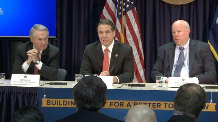 紐約州長庫默週三宣布,將在明年陸續撤掉8處現金收費站,更換為電子收費系統。