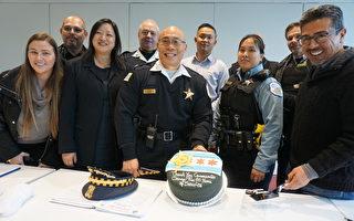 芝加哥首位華裔警長上任