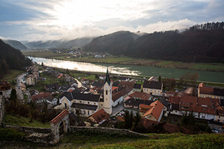 SEVNICA, SLOVENIA - NOVEMBER 28: A general view of Sevnica's old town by the Sava River on November 28, 2016 in Sevnica, Slovenia. Born in Slovenia, Melania Trump was raised in the town of Sevnica, by her father, a car salesman, and her mother, a pattern maker at a textile factory. The former model will become the second foreign-born First Lady of the United States when her husband Donald Trump is sworn in as President during a ceremony in Washington DC on January 20, 2017. (Photo by Jack Taylor/Getty Images)